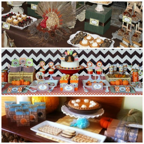 Thanksgiving Dessert Tables | CatchMyParty.com