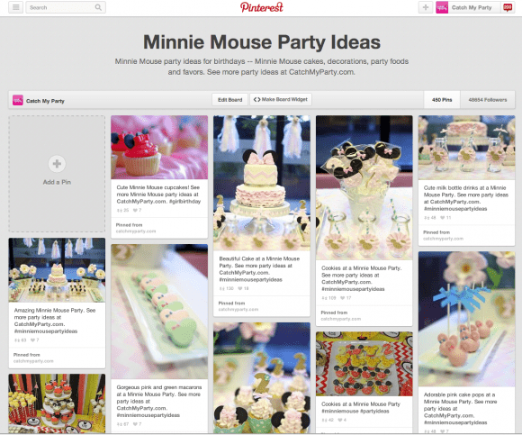 Pinterest Minnie Mouse Party Ideas Board