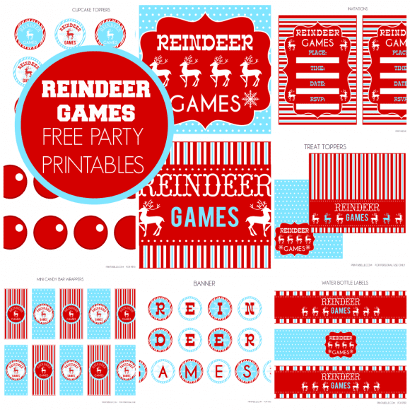Free Reindeer Games Party Printables
