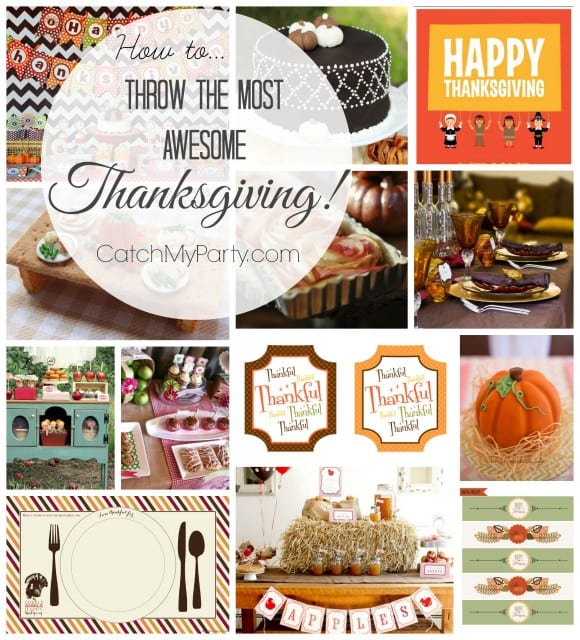 How To Throw an Awesome Thanksgiving | CatchMyParty.com