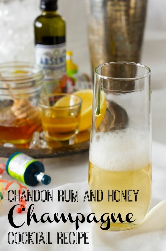 Chandon Rum and Honey Champagne Cocktail
