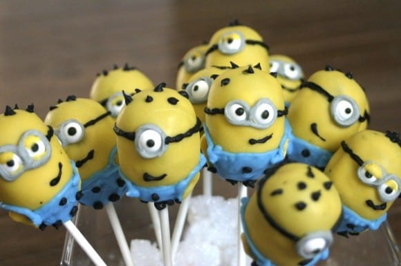 Despicable Me Minion Cake Pops