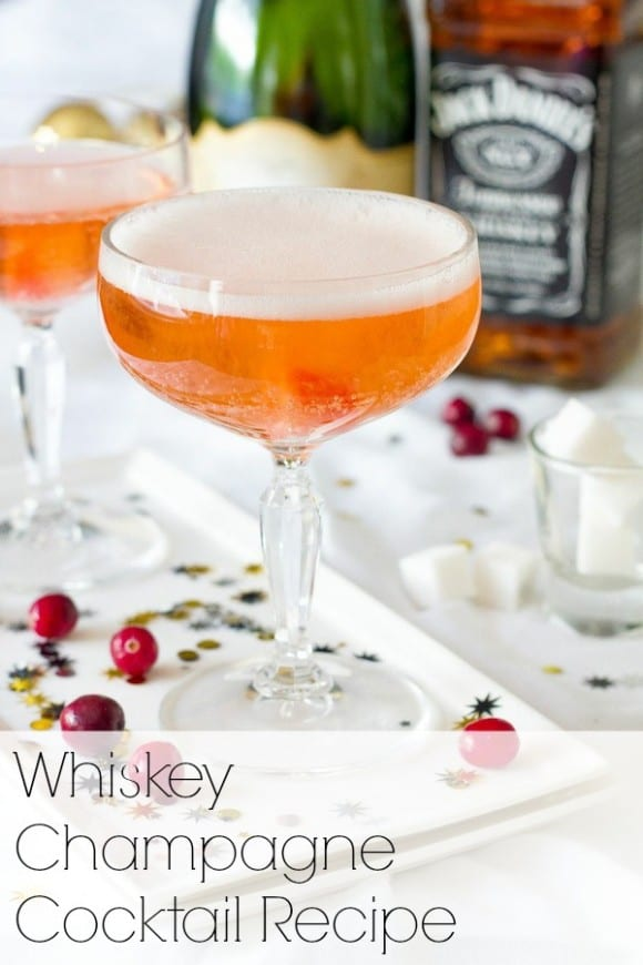 Whisky champagne cocktail recipe