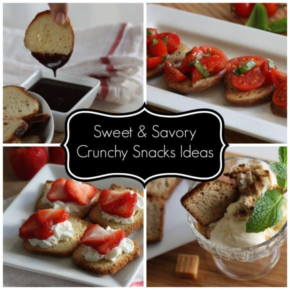 Sweet and savory crunchy snack ideas