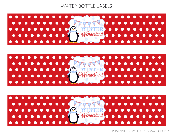 Free Winter Wonderland Party Printables | CatchMyParty.com