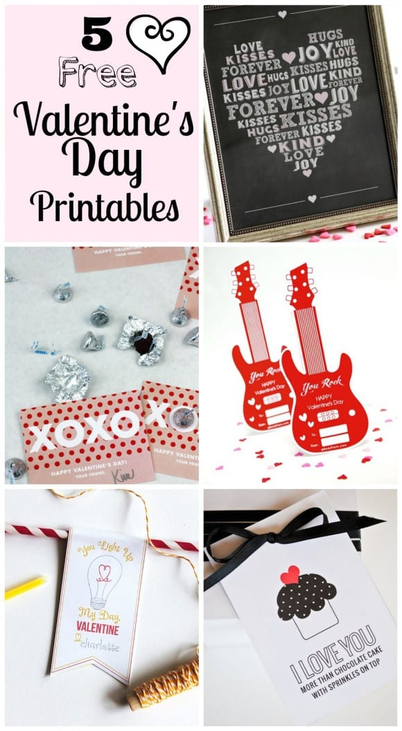 5 free printables for Valentine's Day
