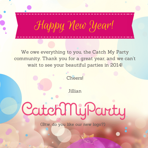 Catch My Party Happy New Year Card