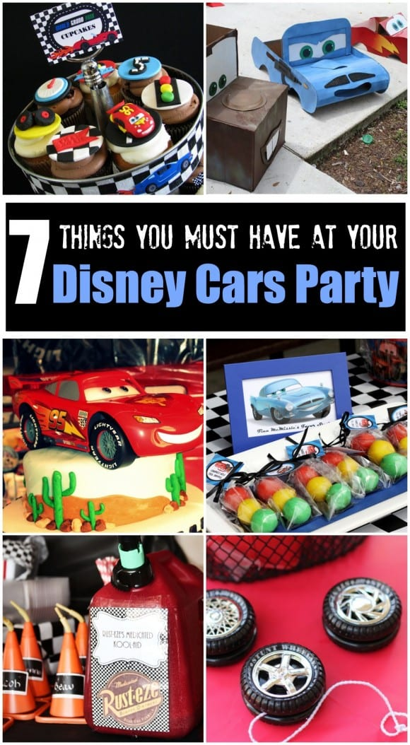 7 things you must have at your Disney Cars birthday party