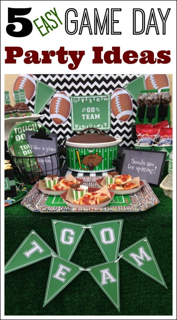 5 Easy Super Bowl party ideas!