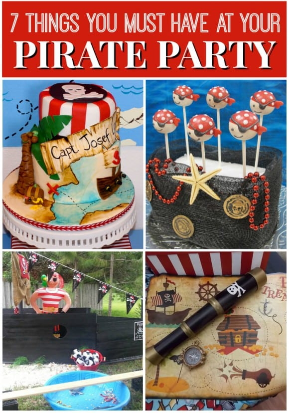 Pirate birthday party ideas from catchmyparty.com.