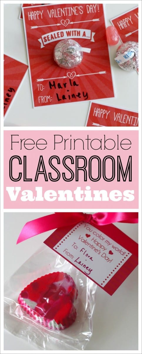 Free printable classroom Valentines | CatchMyParty.com