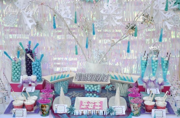 Frozen rock candy icicle decorations | catchmyparty.com
