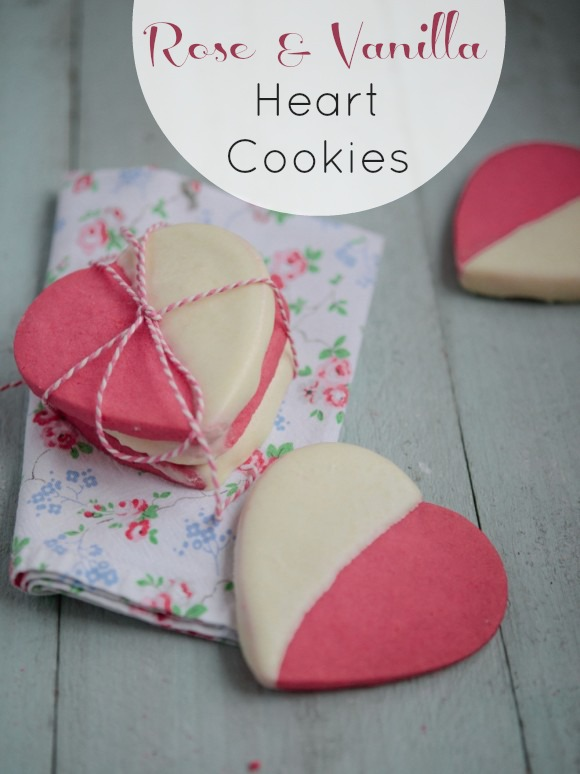 Rose and vanilla heart cookie recipe | CatchMyParty.com