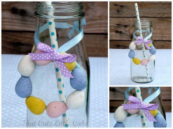 Mini Easter Egg Wreath | CatchMyParty.com