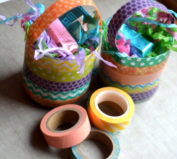 Washi Tape Easter Basket DIY | catchmyparty.com