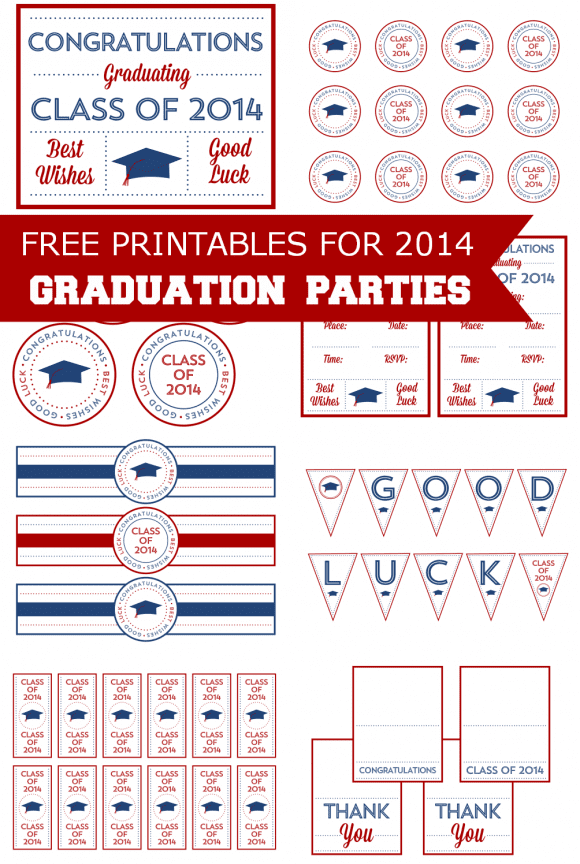 Free Printables for Graduation | CatchMyParty.com