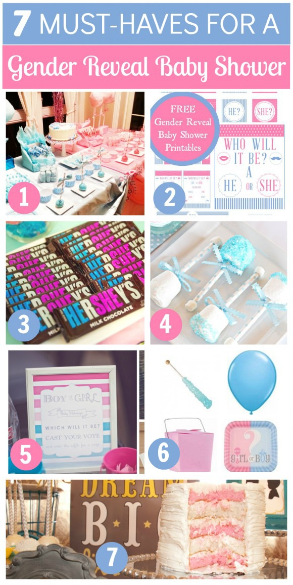 Gender reveal baby shower ideas | CatchMyParty.com
