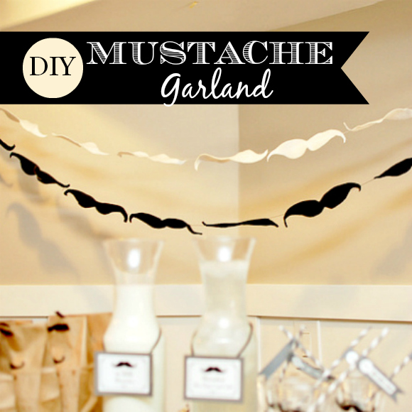 Mustache Garland | CatchMyParty.com