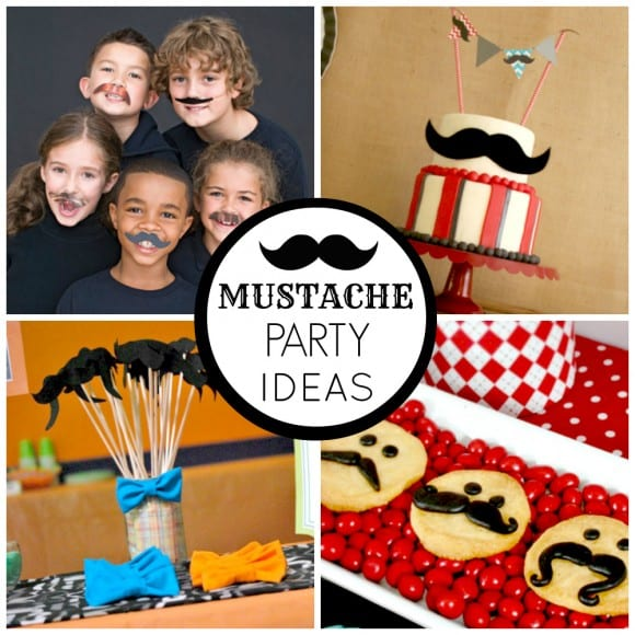 Mustache Party Ideas | CatchMyParty.com