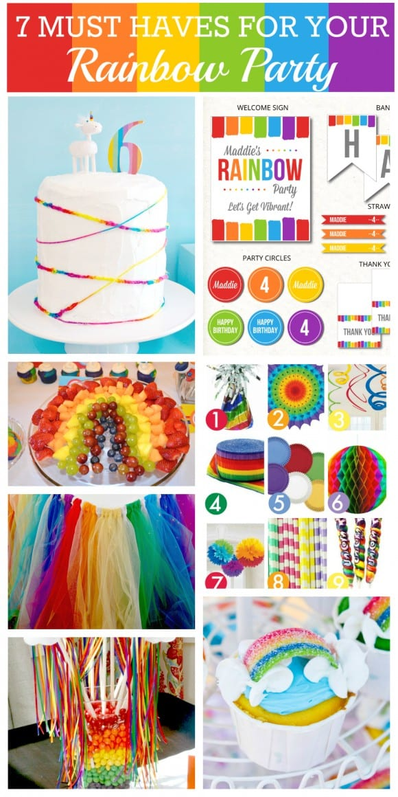 7 Must Have Rainbow Birthday Party Ideas | CatchMyParty.com