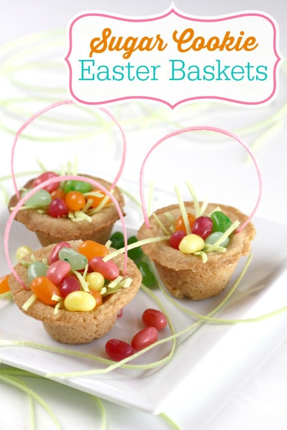 Sugar cookie Easter basket DIY | CatchMyParty.com
