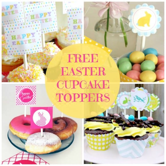 Easter Cupcake Toppers | CatchMyParty.com