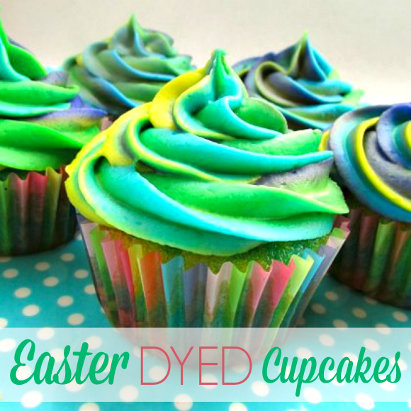 Easter Dyed Cupcakes | CatchMyParty.com