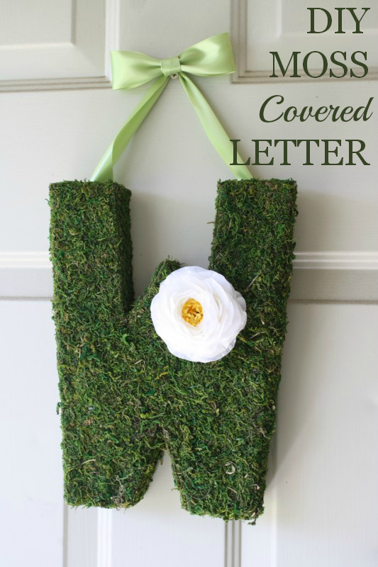 Moss covered letter DIY | CatchMyParty.com