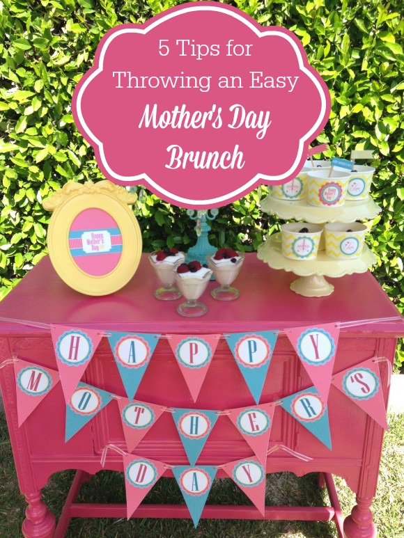5 Tips for Throwing an Easy Mother's Day brunch | CatchMyParty.com