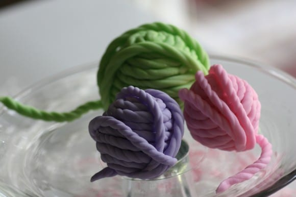 Yarn cake balls | CatchMyParty.com