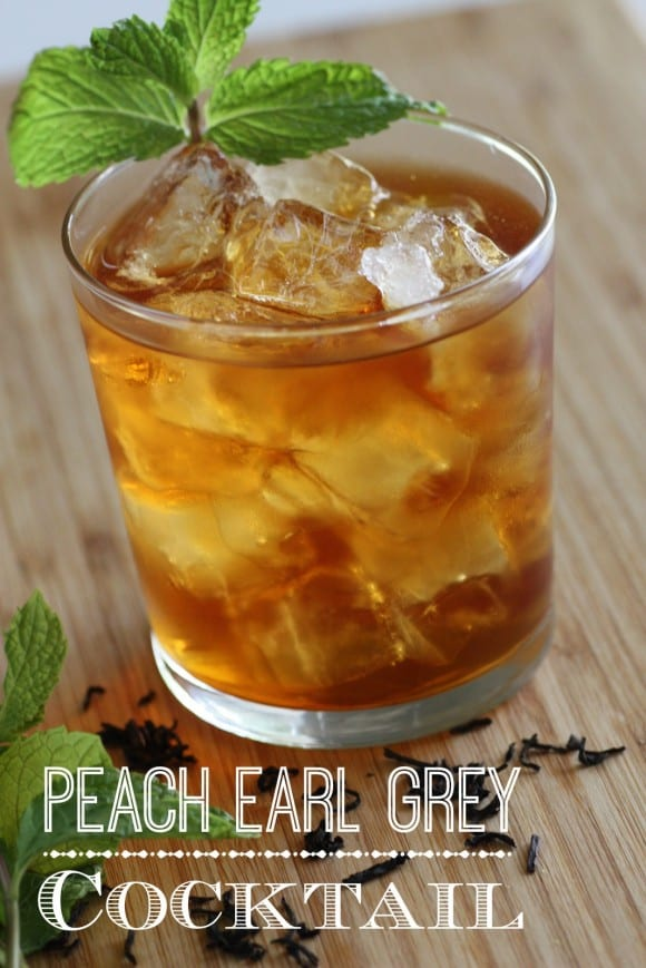 Earl Grey Peach Cocktail Recipe | CatchMyParty.com