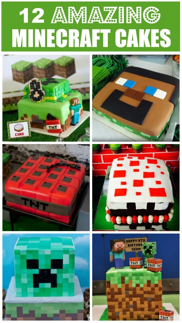 12 Amazing Minecraft Birthday Cakes | CatchMyParty.com