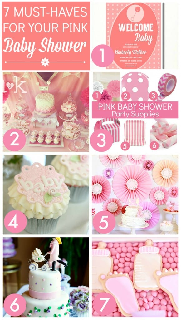 7 Must Haves For Your Pink Baby Shower