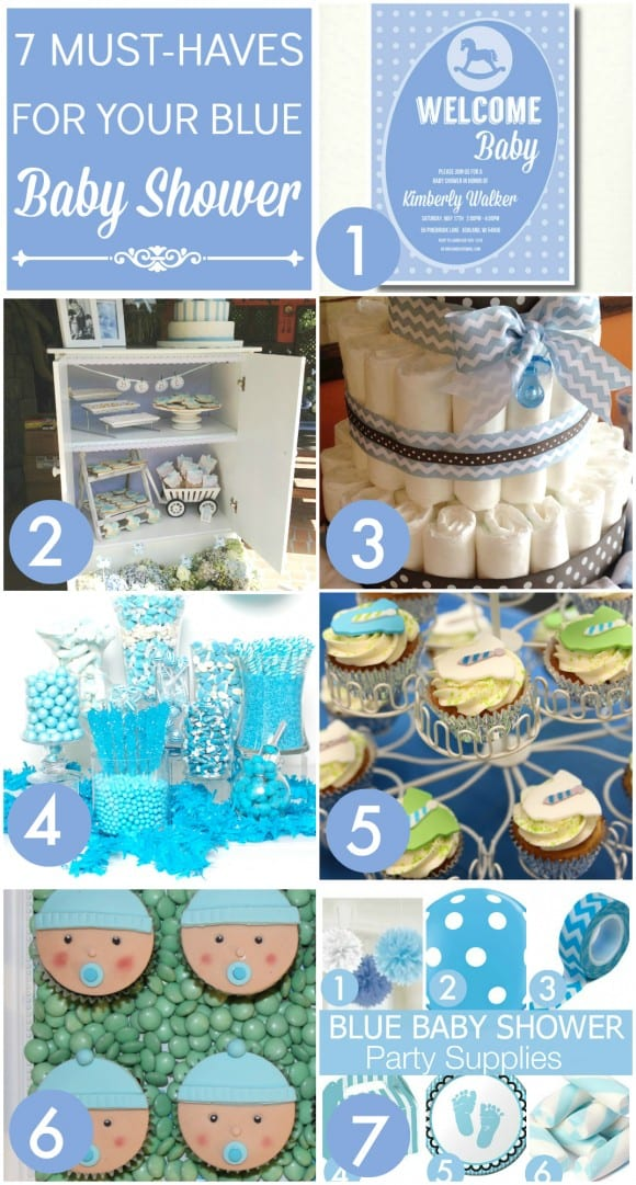 Blue Boy Baby Shower Ideas | CatchMyParty.com