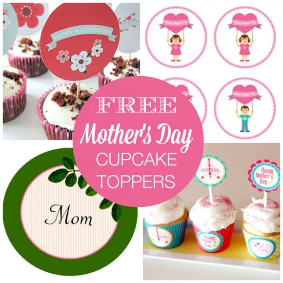 Free Printable Mother's Day Cupcake Toppers | CatchMyParty.com