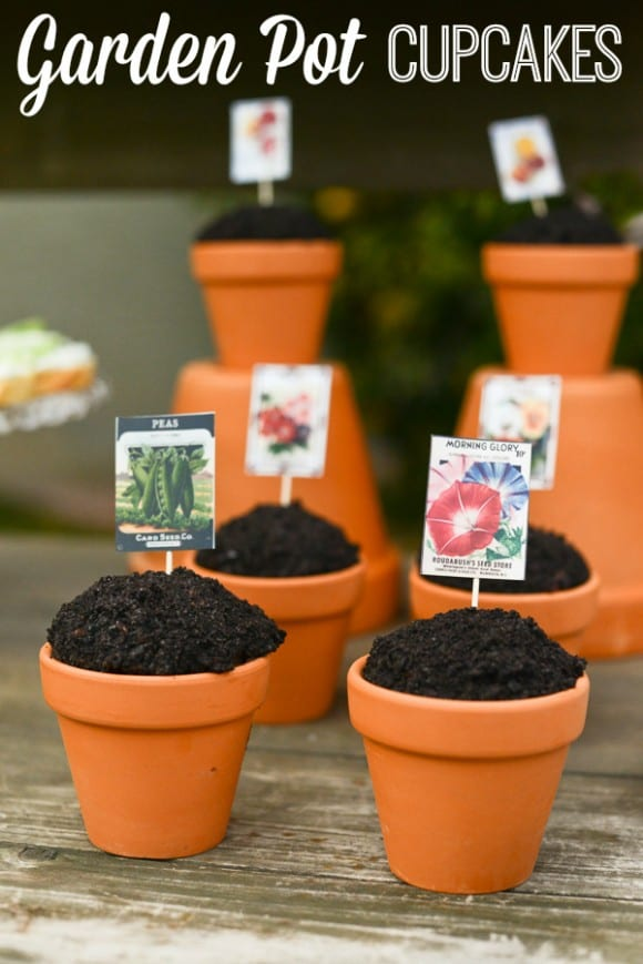 Garden Pot Cupcakes | CatchMyParty.com