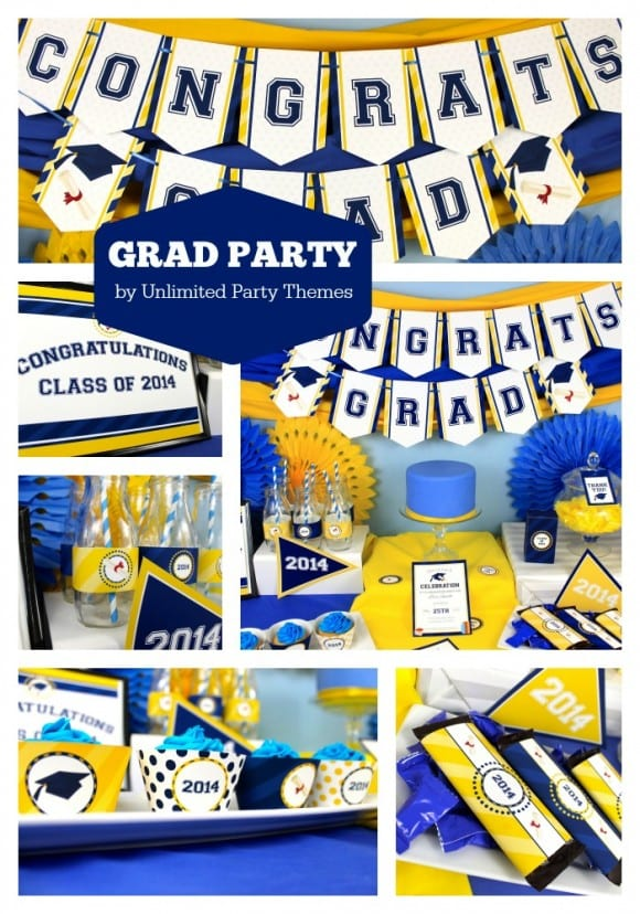 Free Printables for a 2014 Graduation Party | CatchMyParty.com
