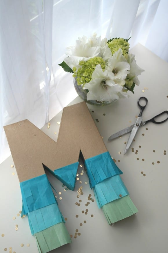Learn to make this trendy ombre DIY pinata! | CatchMyParty.com