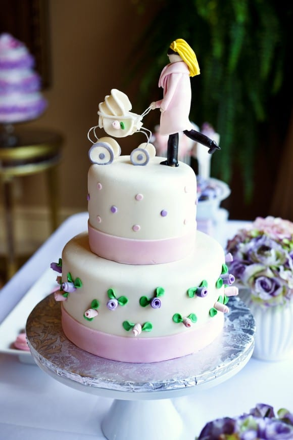 Pink Baby Shower Cake | CatchMyParty.com