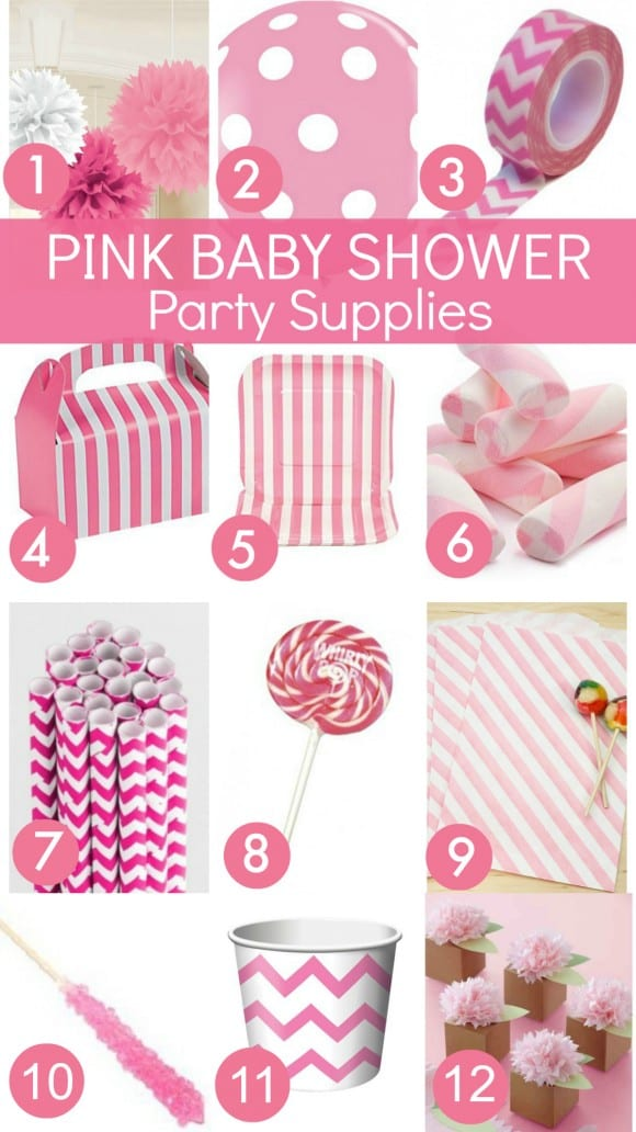 Pink Baby Shower Party Supplies | CatchMyParty.com