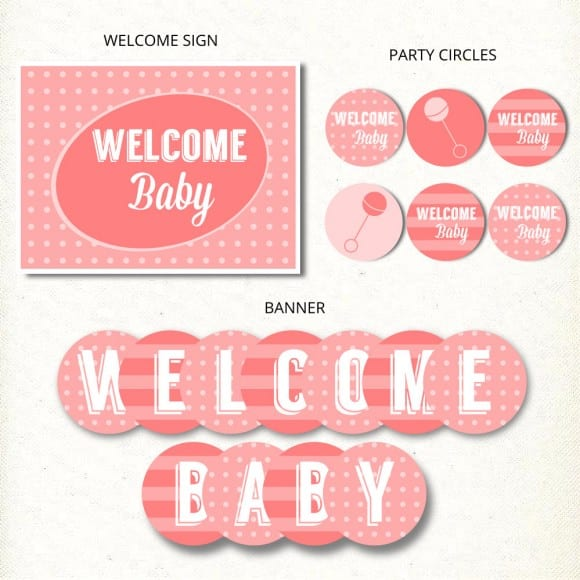 Pink Baby Shower Printables | CatchMyParty.com