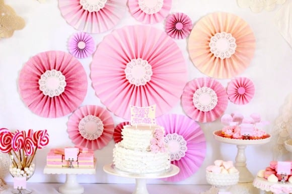 Pink Dessert Table | CatchMyParty.com