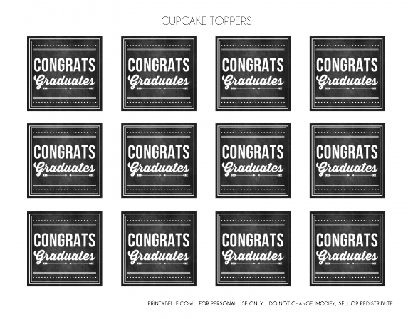 download these free graduation chalkboard party printables