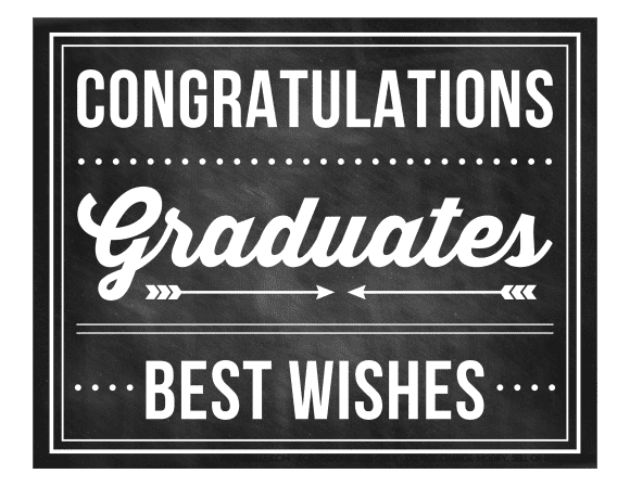 Free Printables for a Graduation Party - Chalkboard Style | CatchMyParty.com