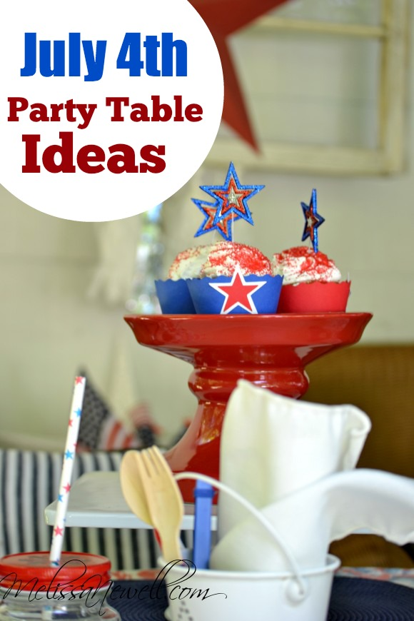 July 4th Party Tablescape Ideas | CatchMyParty.com
