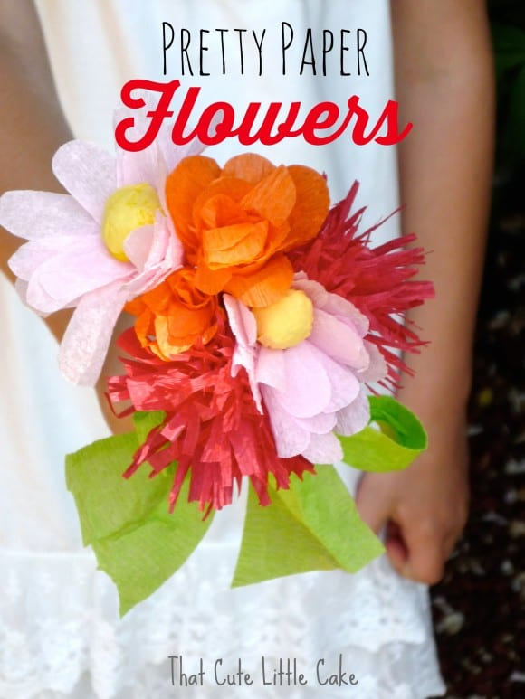 Pretty Paper Flowers DIY | CatchMyParty.com