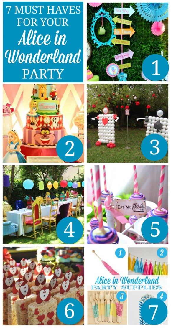 7 Alice in Wonderland Party Ideas | CatchMyParty.com