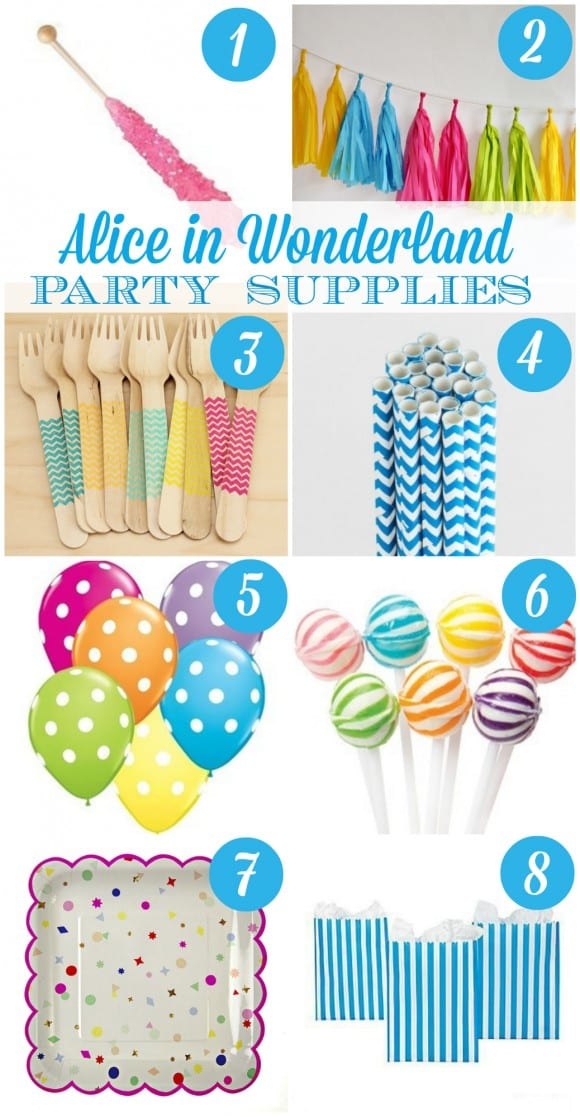 Alice in Wonderland Party Supply Ideas | CatchMyParty.com