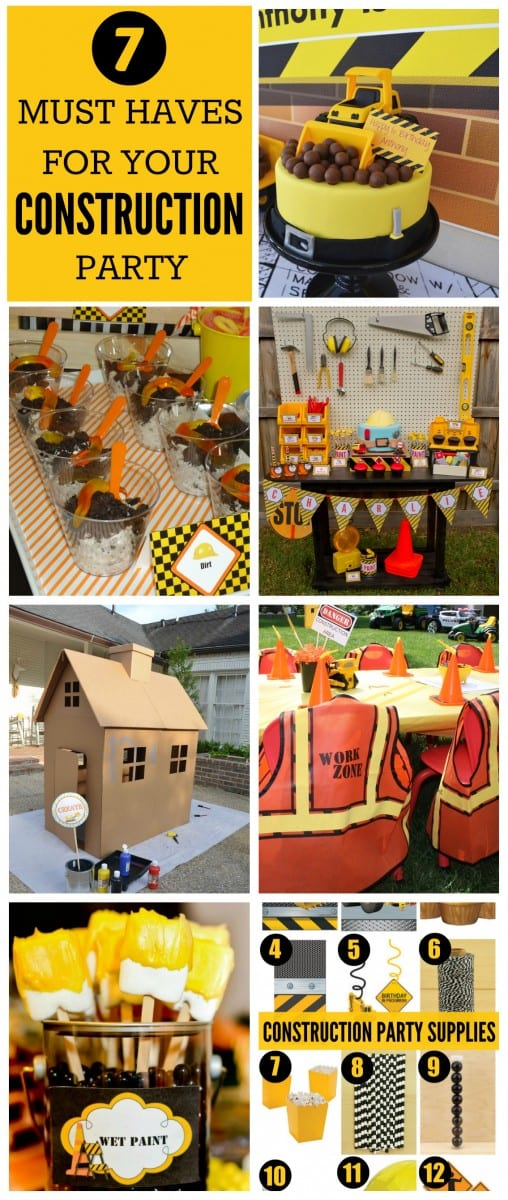 Construction Birthday Party Ideas | CatchMyParty.com