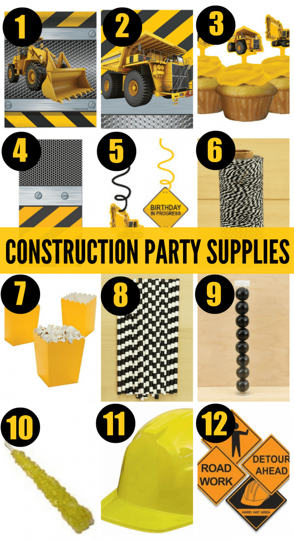 Construction Birthday Party Supplies | CatchMyParty.com